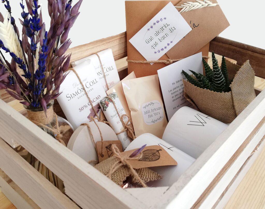 Pack regalo en caja de madera para dos personas