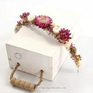 Tocado tiara Floral. Flores Preservadas