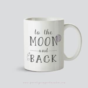 Taza de ceramica con mensaje To the moon and back