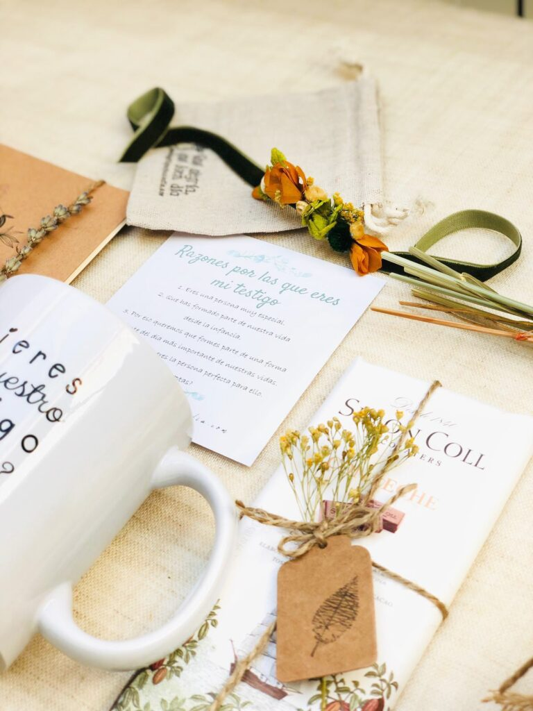 Pack regalo quieres ser nuestro testigo de boda pulsera preservada