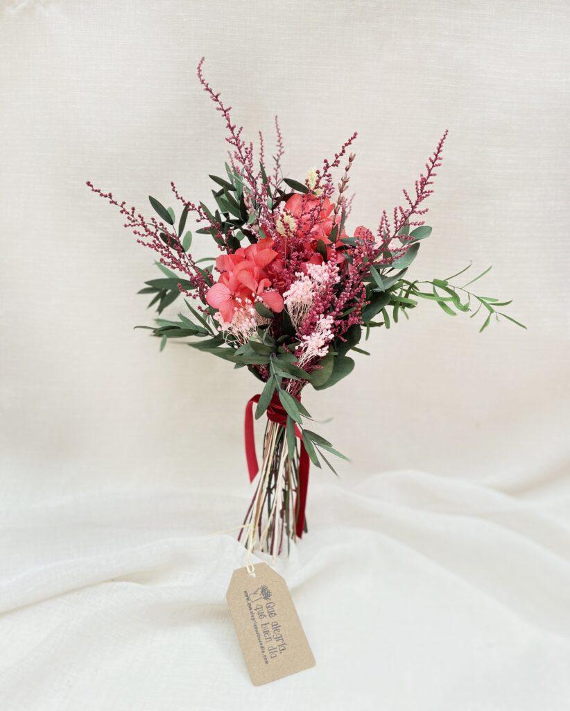 Ramito de Flores Preservadas_Tonos Rosados_Marie en tonos rosados y verdes