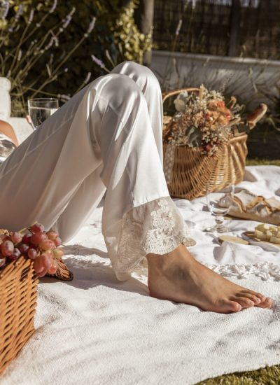 Detalles de los camisones María Gadea con nuestras flores