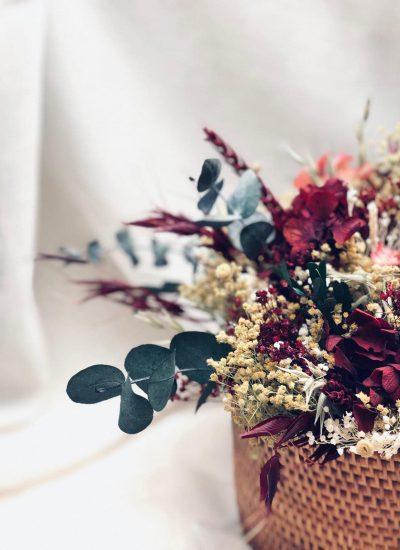 Centro de flores preservadas ideal para regalar
