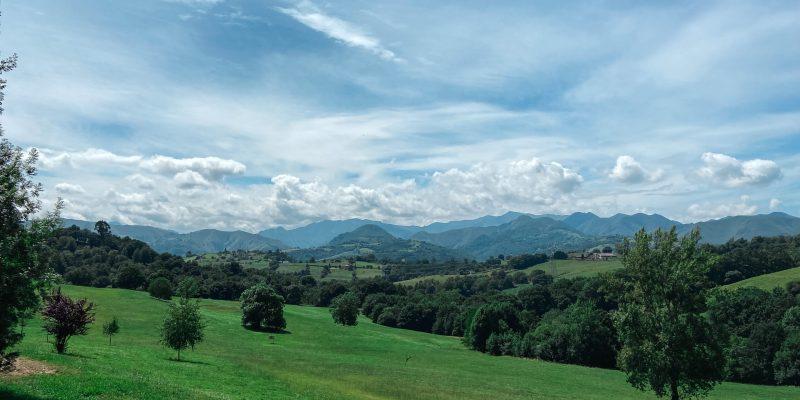 Vistas desde el Palacio de Rubianes Asturias