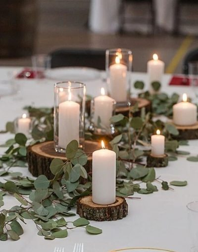 Ideas para una boda rústica_ Foto Pinterest_Velones