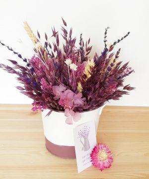 Pack Mama_1. Arreglo Floral Cubo morado