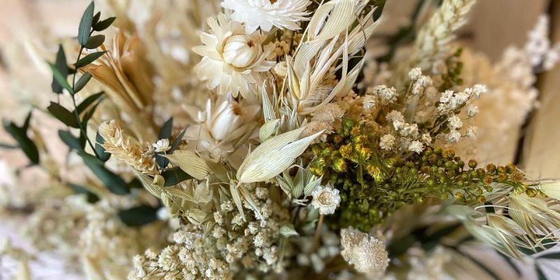 Ramo de Novia con flores preservadas con estilo rústico y campestre